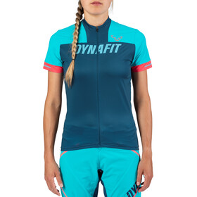 Dynafit Ride Full-Zip Kurzarmshirt Damen blau/türkis